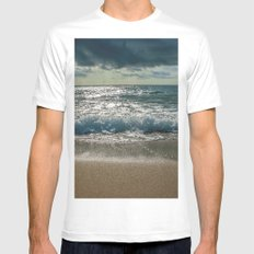 Just me and the Sea White Mens Fitted Tee MEDIUM
