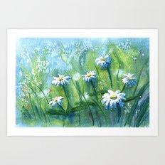 Daisies I Art Print