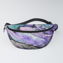 Abstract landscape with mountains and hills by pastel Fanny Pack