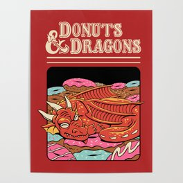 Donuts and Dragons Poster