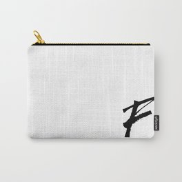 Letter F Ink Monogram Carry-All Pouch