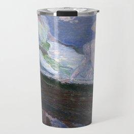 1887-Claude Monet-On the Boat-133 x 145 Travel Mug