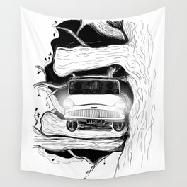 Harry, Ron and their first car ride Wall Tapestry