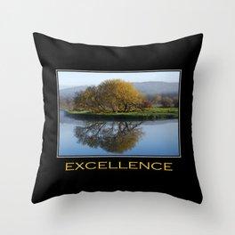 Inspirational Excellence Throw Pillow