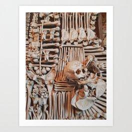 bones wall Art Print
