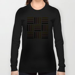 Geometric Pattern #71 (yellow pink stripes) Long Sleeve T-shirt