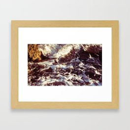 Sea Waves Framed Art Print