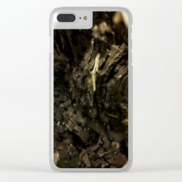 Rotting Wood Clear iPhone Case