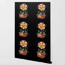 Vinyl Flower Wallpaper