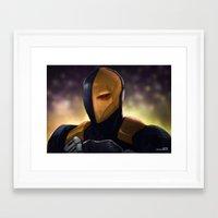 deathstroke Framed Art Prints featuring Deathstroke by Asad Farook