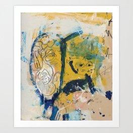 blue cat home Art Print
