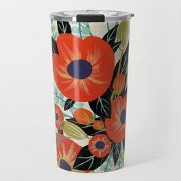Red Poppies - Ivory Travel Mug