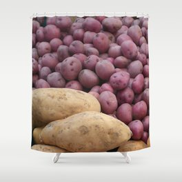Farmer's Market Sweet Potatoes Shower Curtain