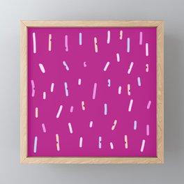 Chatty Red Design Framed Mini Art Print