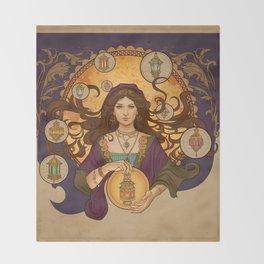 Lanterna magica Throw Blanket