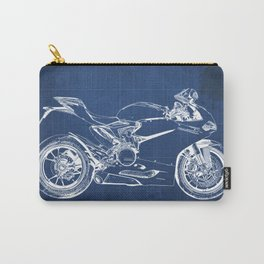Blueprint, Superbike 1299 Panigale, 2015,brown background, gift for men, classic bike Carry-All Pouch