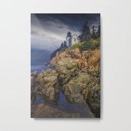 Bass Harbor HeadLight in Acadia National Park in Main Metal Print