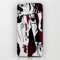 manga iPhone & iPod Skins featuring Grafitti Manga by Fine2art