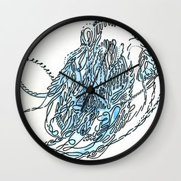fishbone noodler Wall Clock