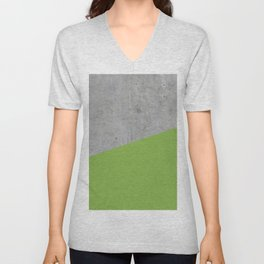 Concrete and Greenery Color Unisex V-Neck