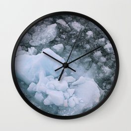 Ice And Snow Abstract Art By Nature Wall Clock