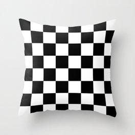 Black & White Checkered Pattern Throw Pillow