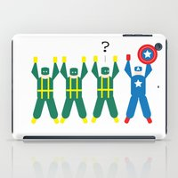 hydra iPad Cases featuring Cap & Hydra (Minimal) by Nerd Literature