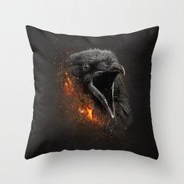 XTINCT x Raven Throw Pillow