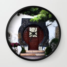 The Round Red Door Wall Clock