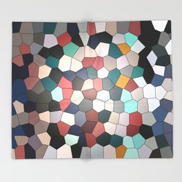 Colorful Mosaik Pattern Design Throw Blanket