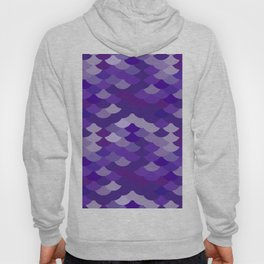 Ultra Violet wave, abstract simple background with japanese seigaiha circle pattern Hoody