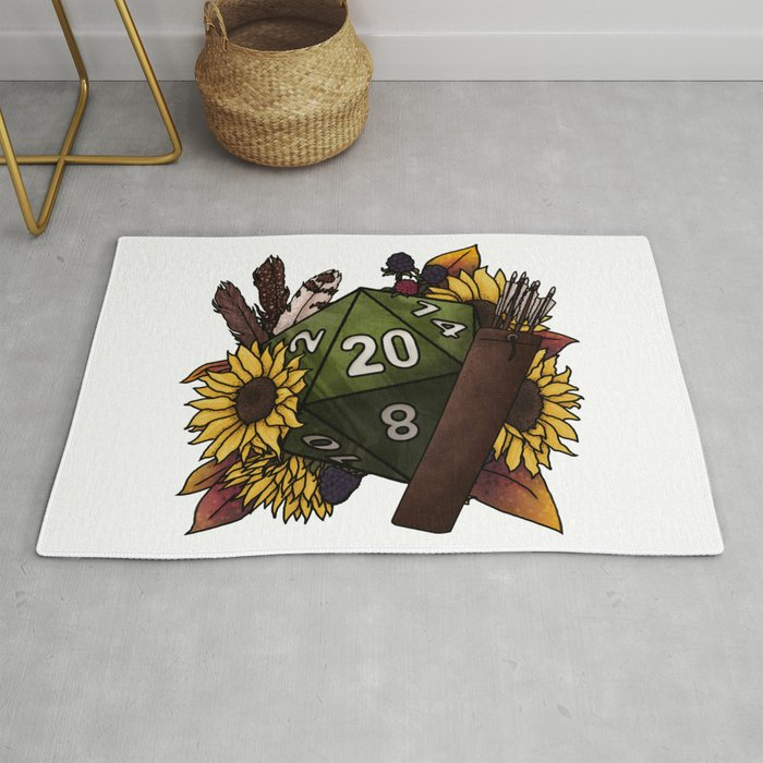Ranger Class D20 - Tabletop Gaming Dice Rug
