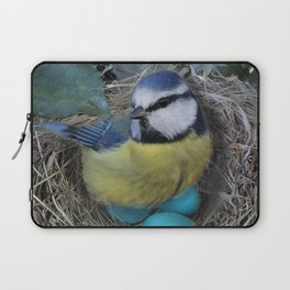 Blue Bird in Nest Laptop Sleeve