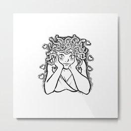 Medusa's Gaze Metal Print