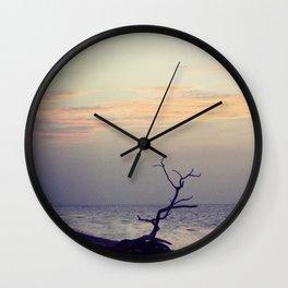 Sunset on Coco Plum Beach Wall Clock