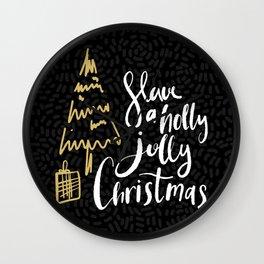 Christmas Greetings 3 Wall Clock