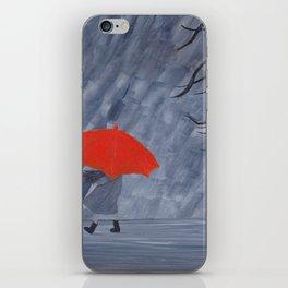 Orange Umbrella iPhone Skin