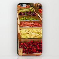 vegetables iPhone & iPod Skins featuring Vegetables by Toni-Ann Langella