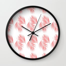 Palm Leaves Pattern #17 #LightCoral #decor #art #society6 Wall Clock