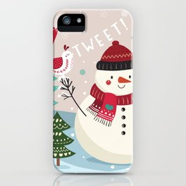 The Sweet Song Of Winter Friends iPhone Case