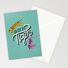 Go Get 'Em Tiger – Mint Palette Stationery Cards