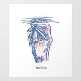 Biting Art Print