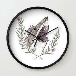 Floral Shark Wall Clock