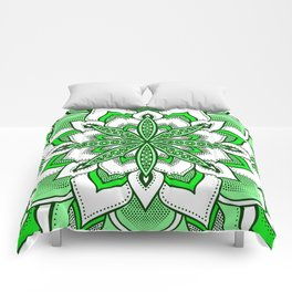 Mandala Flower : Green Comforters
