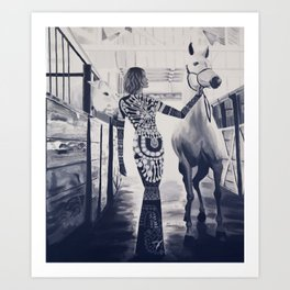 Runway Stable Art Print