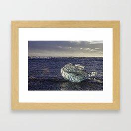 Jokulsarlon Lagoon Beach 02 Framed Art Print