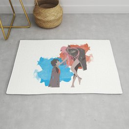DARLING in the FRANXX Minimalist (Hiro and Zero Two) Rug