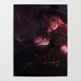 Bewitching Morgana League Of Legends Poster