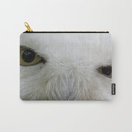 Keen look of the snow owl Carry-All Pouch