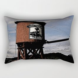 1880 Train Watertower Black Hills Abstract Rectangular Pillow